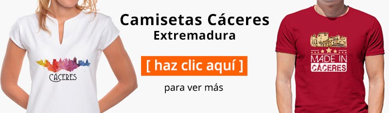 Camisetas de Cáceres Extremadura