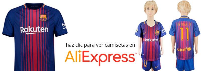nueva camiseta del FC Barcelona temporada 2017 - 2018 en Aliexpress