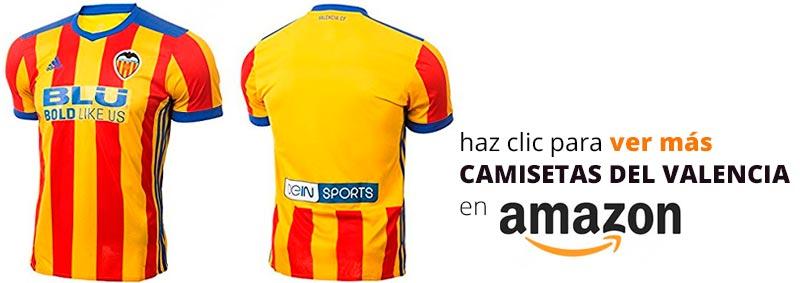 segunda equipación Valencia CF temporada 2017 – 2018