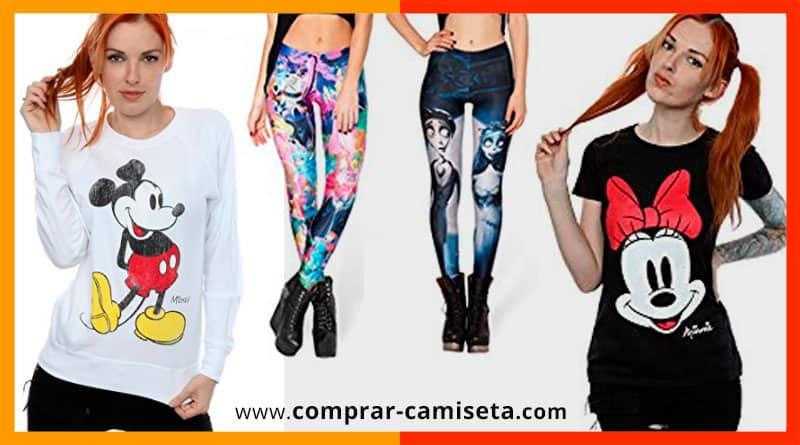 camisetas, sudaderas, tops, pijamas, ropa Disney para mujer