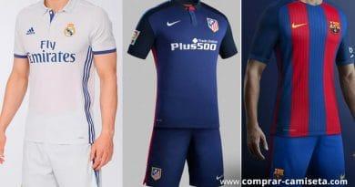 Comprar camisetas de fútbol liga española