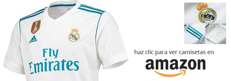 nueva camiseta del Real Madrid temporada 2017 - 2018 en Amazon