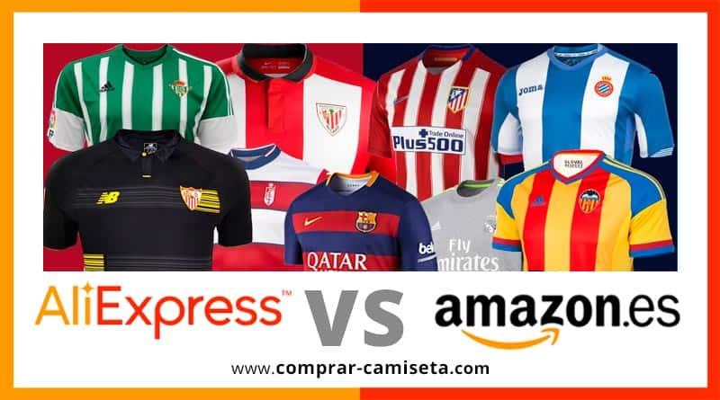 Dónde comprar camisetas de fútbol baratas. Comparativa entre AliExpress y Amazon.