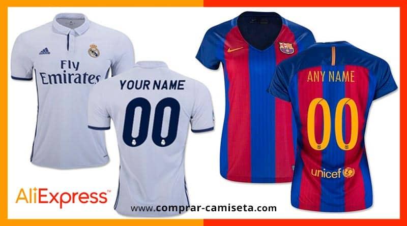 Camisetas personalizadas fútbol AliExpress