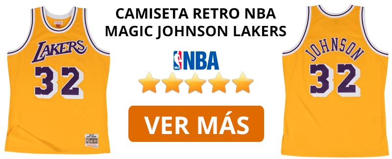 Comprar camiseta retro NBA Lakers de Magic Johnson
