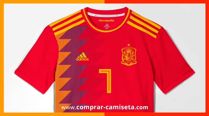91ceb6a696a4f Camiseta-España-Mundial-Rusia-2018 - Comprar Camisetas Baratas