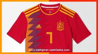 eefbfd064fe1d Camiseta-España-Mundial-Rusia-2018 - Comprar Camisetas Baratas