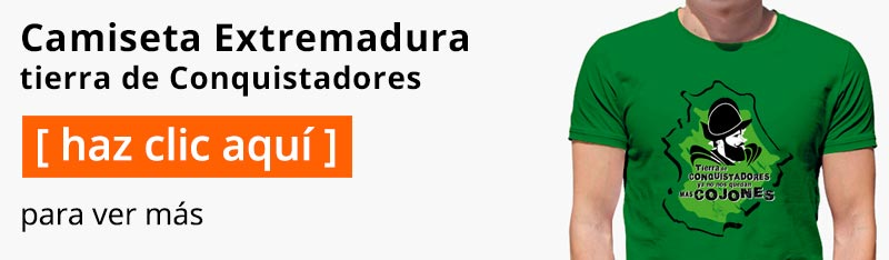 Camiseta Extremadura tierra de Conquistadores