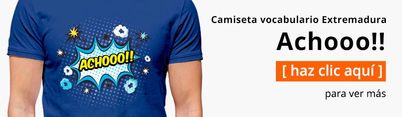 Camiseta vocabulario Extremadura