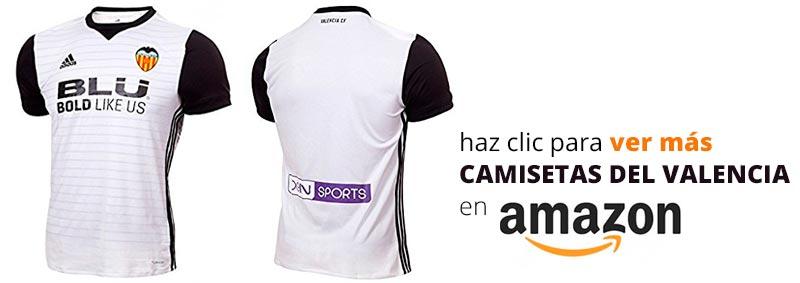 Primera equipación del Valencia CF temporada 2017-2018