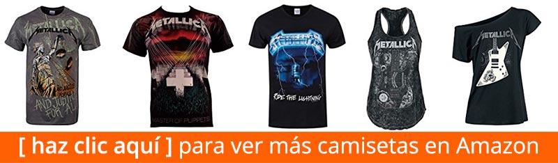 ver camisetas de Metallica en Amazon