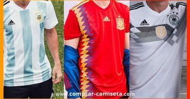 Comprar camisetas selecciones de Fútbol del Mundial: España, Argentina, Brasil, Portugal…