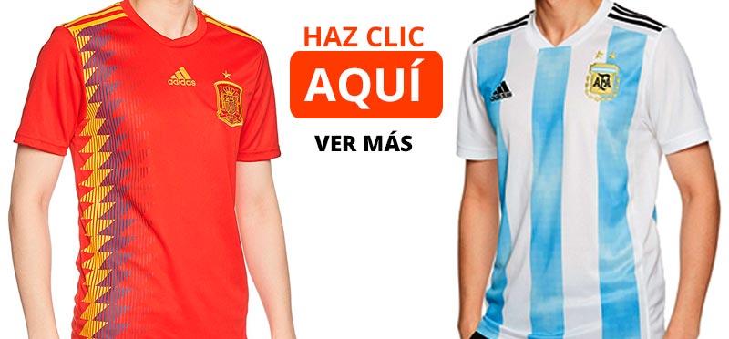 Comprar camisetas de fútbol de las selecciones del Mundial