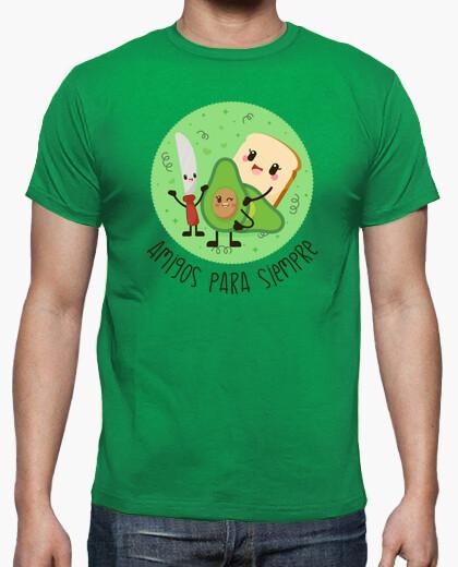 Camiseta para hombre con una ilustración de un saludable desayuno
