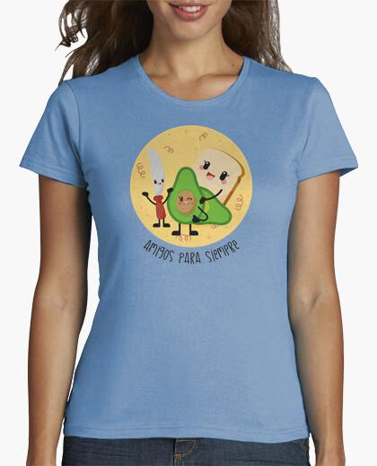 Camiseta para mujer desayuno alegre, saludable y muy vegano