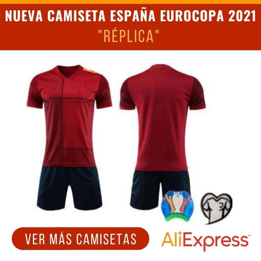 nueva camiseta espana eurocopa 2021 replica aliexpress